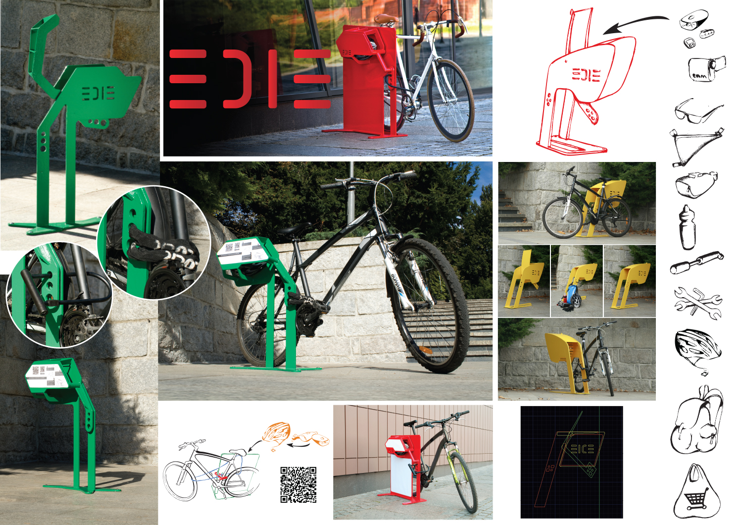 Edie - stojak rowerowy