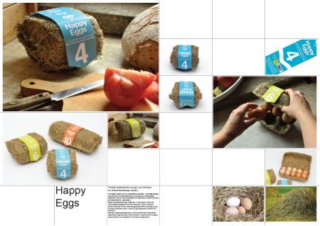 Happy Eggs – Projekt opakowania na jajka