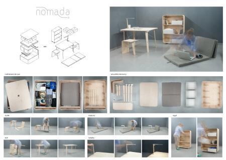 Nomada – modułowy zestaw składający się z podstawowych mebli