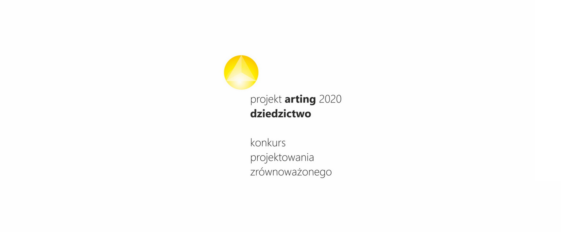 "Logotyp Konkursu Projekt Arting 2020 ""Dziedzictwo"""