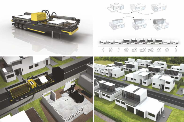 Projekt drukowanych domów modułowych