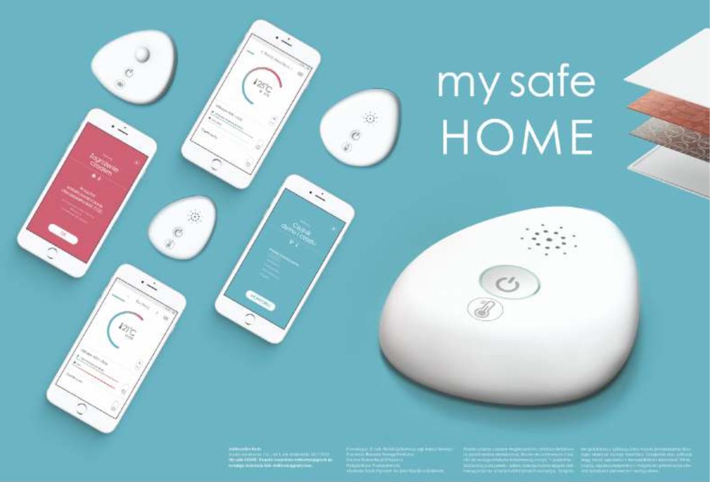 My safe HOME system czujników: temperatury i stanu powietrza oraz ruchu. Czujniki