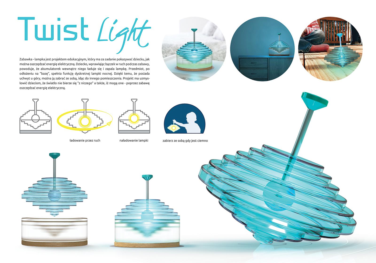 Twist Light - Bączek zabawka edukacyjna dla dzieci