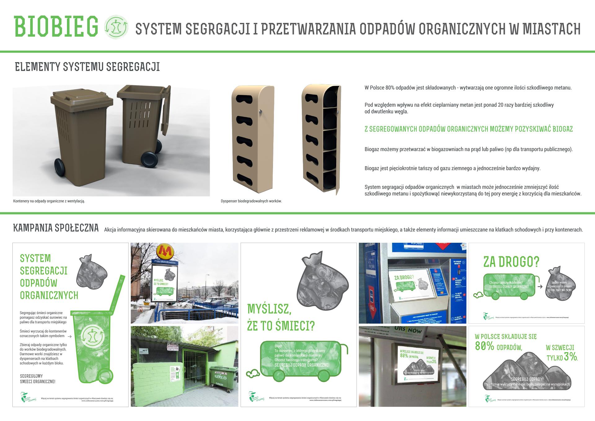 Biobieg - system segregacji śmieci organicznych w dużych miastach