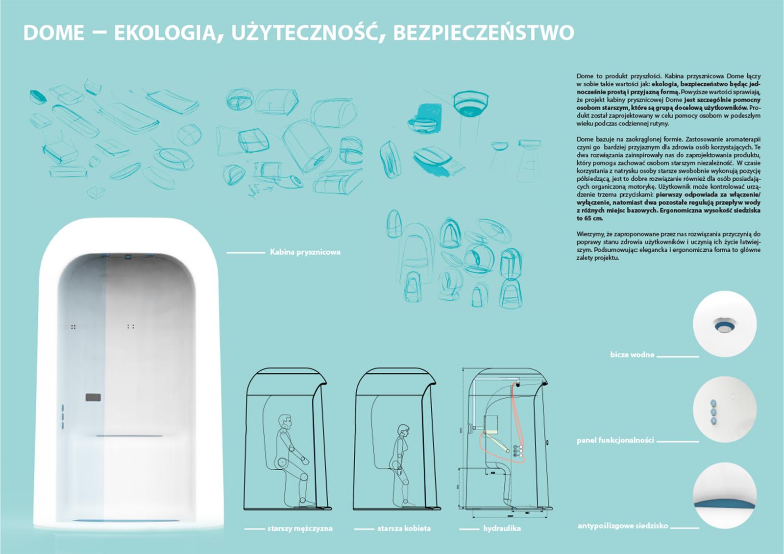 Dome - Kabina prysznicowa dla osób starszych