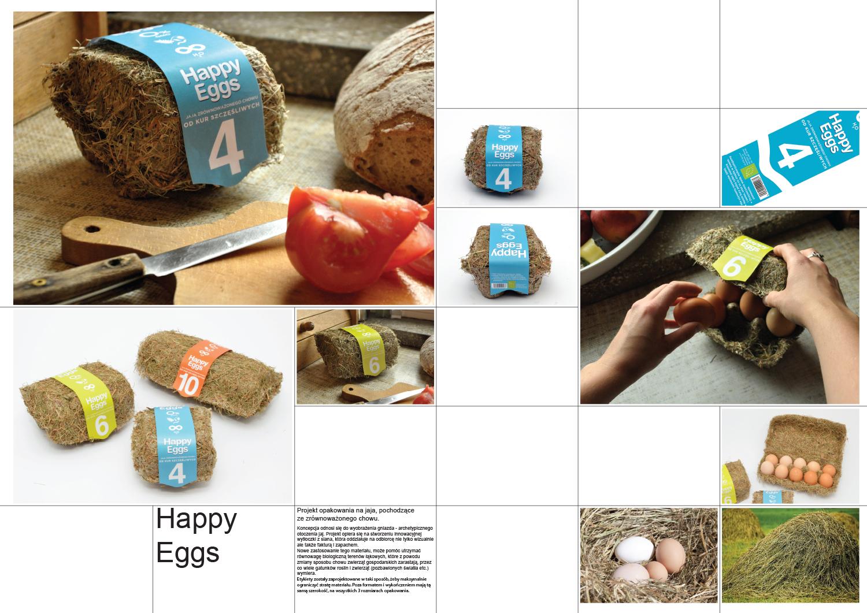 Happy Eggs - Projekt opakowania na jajka zrównoważony