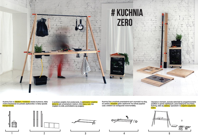 Kuchnia ZERO - składane, modułowe stoisko kuchenne