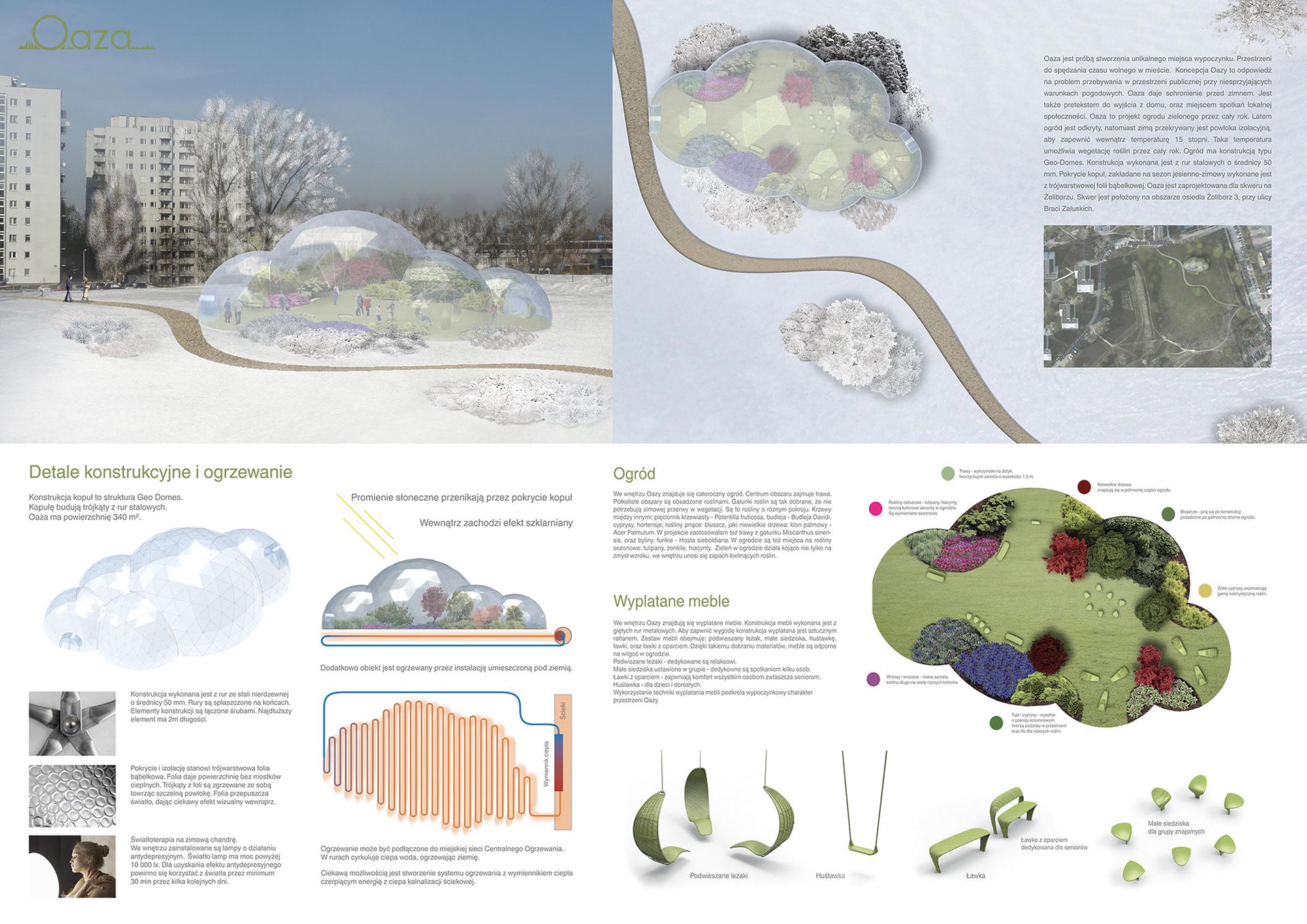 Oaza - projekt ogrodu zielonego przez cały rok