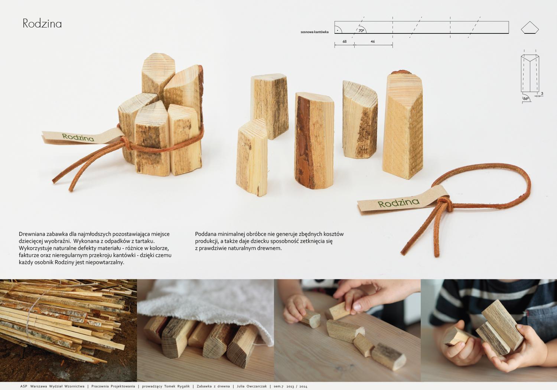 Drewniana zabawka dla najmłodszych - Julia Owczarczyk