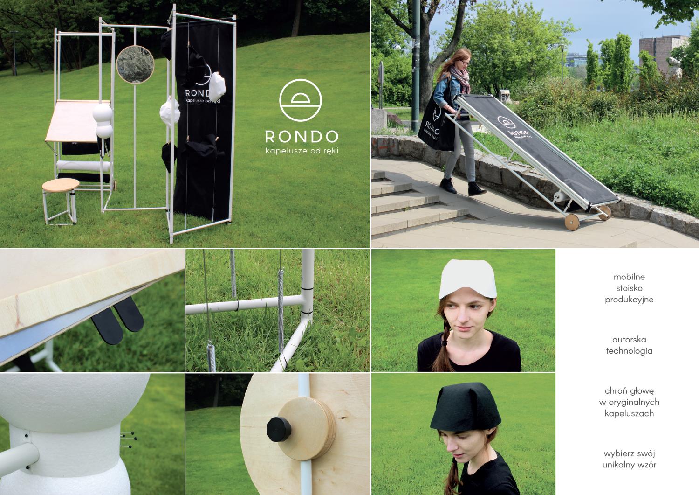 RONDO - Mobilne stoisko do produkcji nakryć głowy