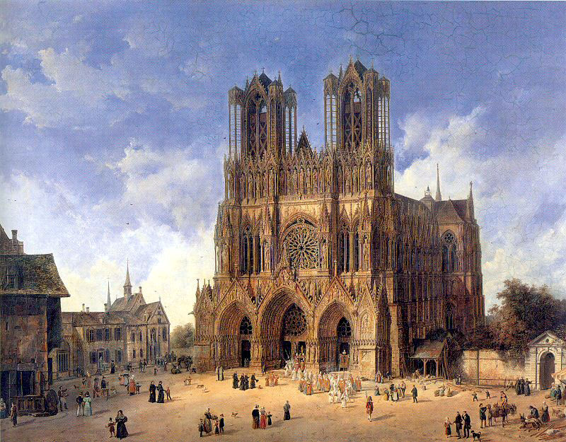 The Cathedral of Reims, by Domenico Quaglio.