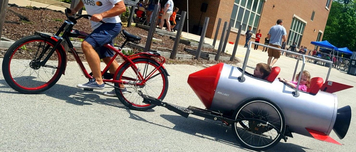 Przyczepa rowerowa ze wspomaganiem elektrycznym