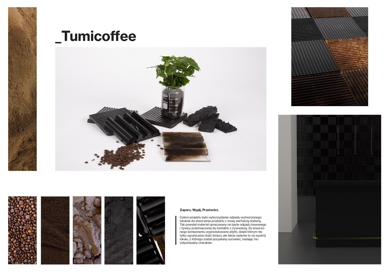 Tumicoffee - Projekt wybranych elementów dekoracyjnych wnętrz z wykorzystaniem odpadu kawowego.