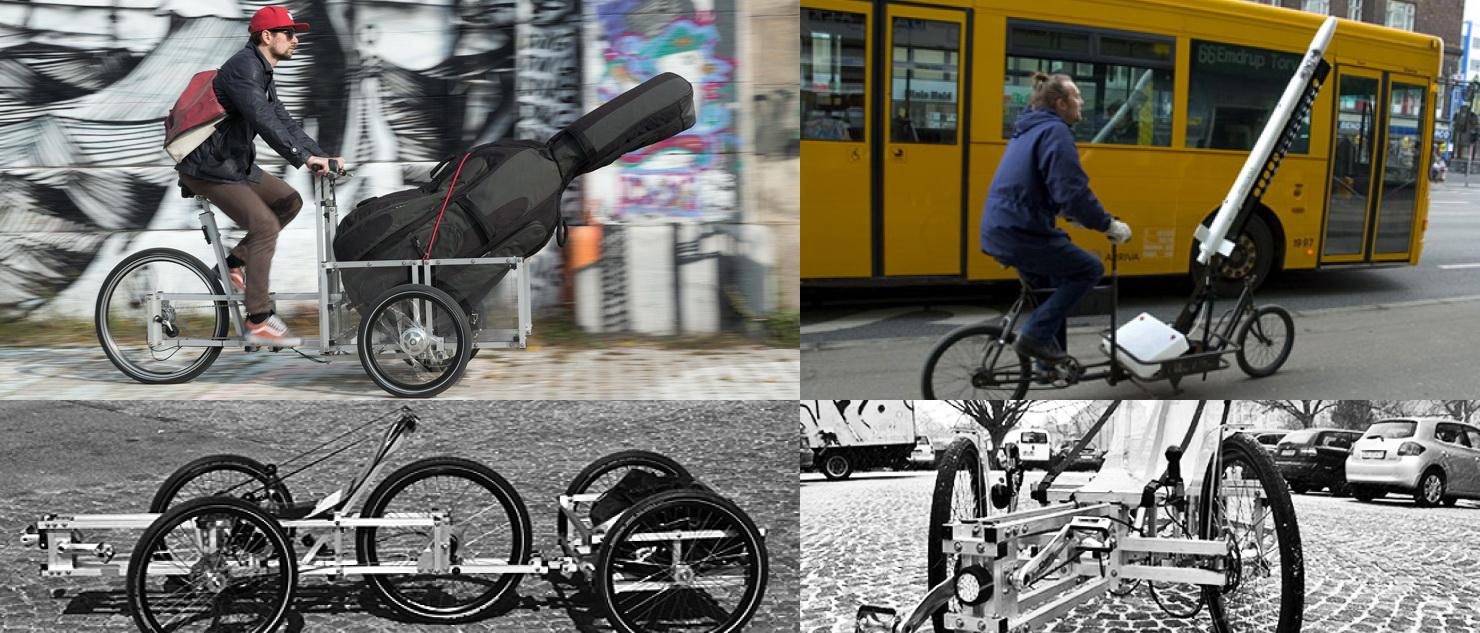 Trójkołowy rower z ramą przestrzenną N55 na licencji Open Source