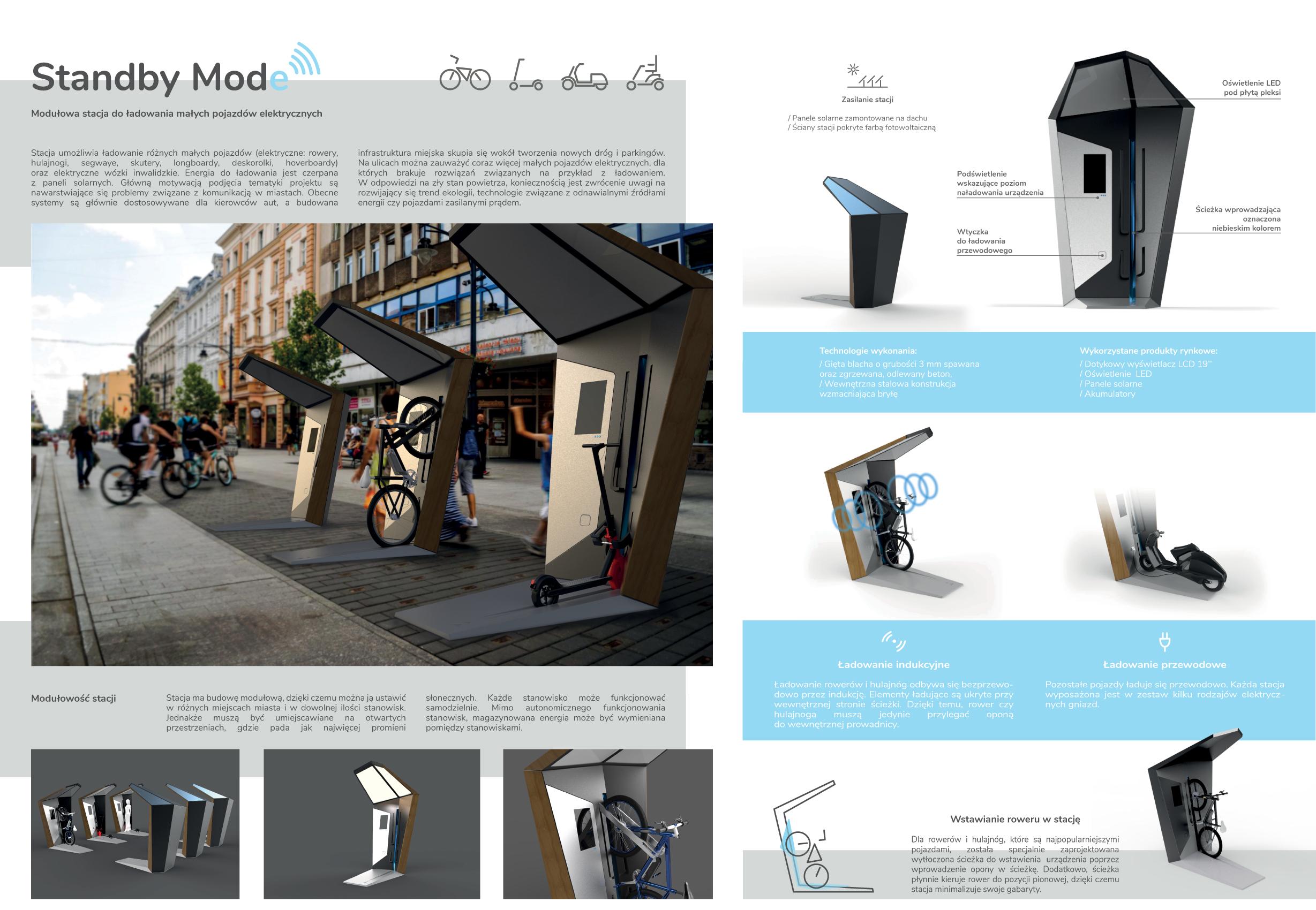 Standby Mode. Modułowa stacja do ładowania małych pojazdów elektrycznych
