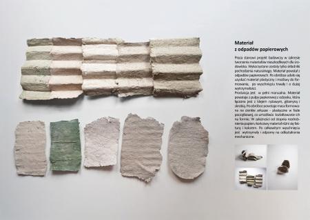 Materiał z odpadów papierowych