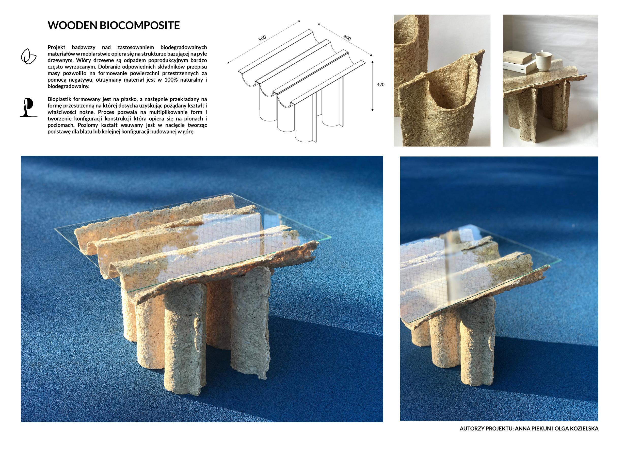 Wooden biocomposite