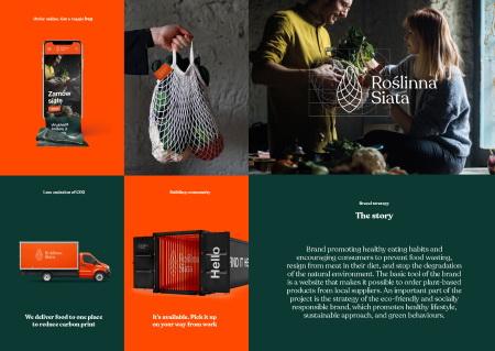 Projekt identyfikacji wizualnej dla marki promującej prozdrowotne nawyki żywieniowe