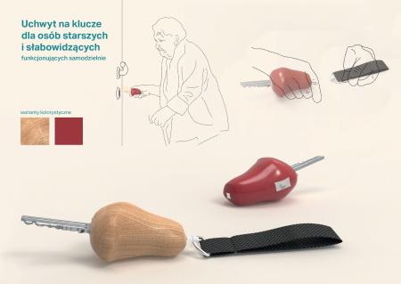 Uchwyt na klucze dla osób starszych i słabowidzących