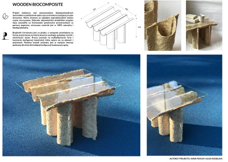 Wooden biocomposite