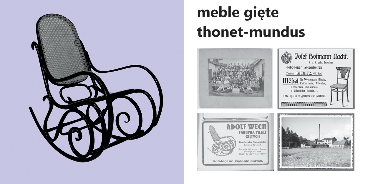 Ohnutý nábytok thonet-mundus