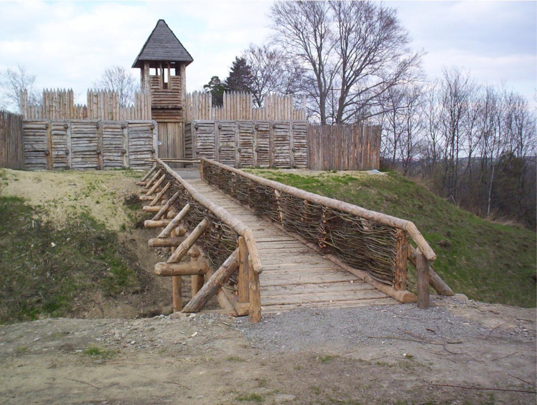 Rekonstrukcja słowiańskiego grodu z IX w. w Kocobędzu (Chotěbuz-Podobora) koło Czeskiego Cieszyna